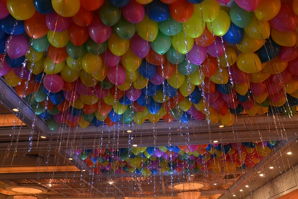 Ceiling Decoration using Balloons